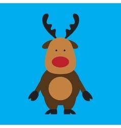 Flat icon on blue background santa reindeer vector