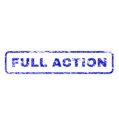 full action rubber stamp vector image