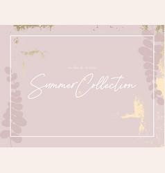 Gold pink blush chic feminine banner vector