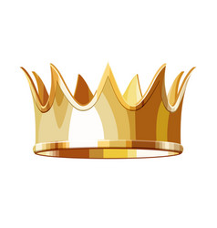 golden royal crown isolated on white background vector image