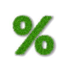 grass symbol percent green percent isolated on vector image