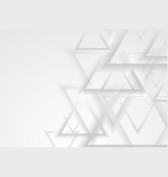 grey abstract triangles geometric tech background vector image