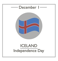 Iceland independence day vector