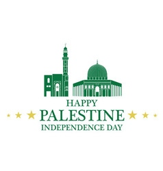 Independence day palestine vector