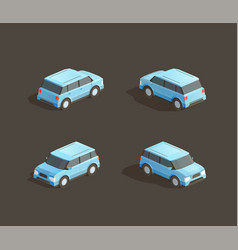 isometric blue mpv vector image