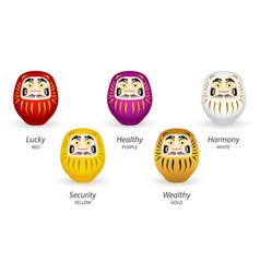 japanese daruma doll simple icon security wealthy vector image
