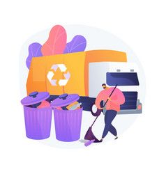 Junk removal abstract concept vector