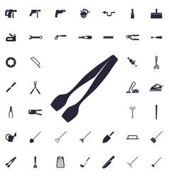 Kitchen tongs icon vector