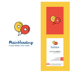 love balloons creative logo and business card vector image