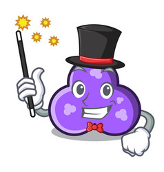 Magician trefoil mascot cartoon style vector
