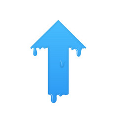 melting up arrow grow symbol vector image