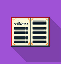menu of the restaurant icon in flat style isolated vector image