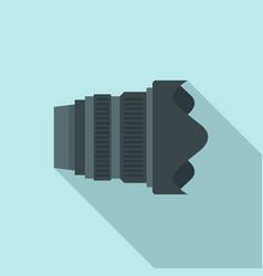 modern camera lens icon flat style vector image