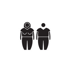 obesity black concept icon obesity flat vector image