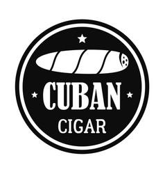 Original cuban cigar logo simple style vector