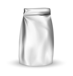 packaging foil packaging bag for snack or take vector image