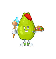 Painter cute papaya on a white background vector