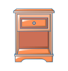 red bedside table icon cartoon style vector image