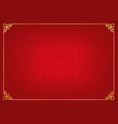 red chinese square abstract background with golden vector image