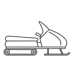 Santa snowmobile icon outline style vector