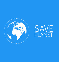 save the world symbol vector image