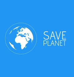 save world symbol vector image