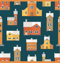 seamless pattern with antique city buildings vector image