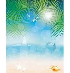 Seascape backgrounds vector image