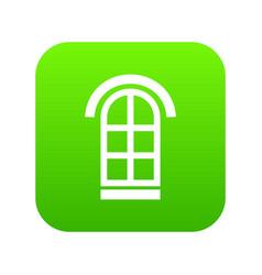 semicircular window frame icon green vector image