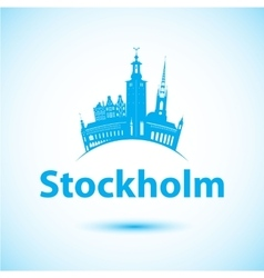 silhouette of Stockholm Sweden City vector image