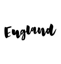 Slogan england calligraphy template text for your vector