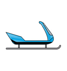 Snow sled modern vehicle object icon vector