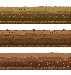 Soil layers set vector