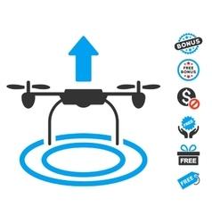 Start Drone Icon With Free Bonus vector image