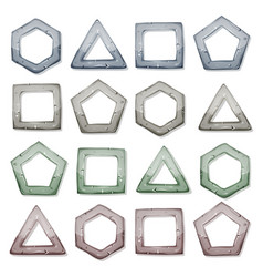 stone squares triangles and other shapes set vector image