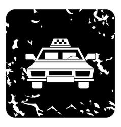 Taxi car icon grunge style vector