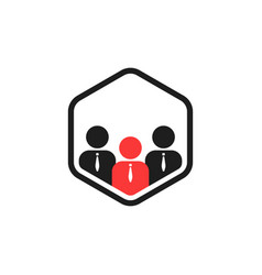 Team work connect like together logo vector