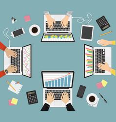 teamwork brainstorming concept business vector image