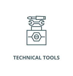 technical tools line icon linear concept vector image