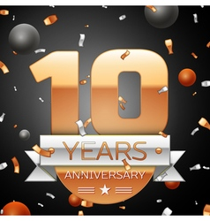 Ten years anniversary celebration background with vector