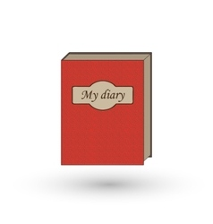 The book is my diary vector image