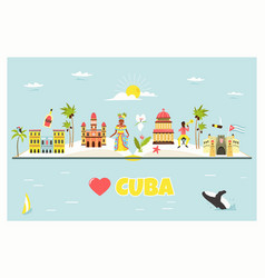 Tourist poster with famous destinations and vector
