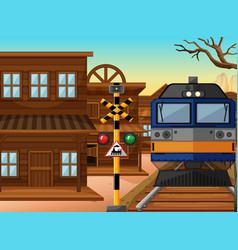train ride through western town vector image