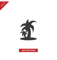 tropical beach palms icon vector image