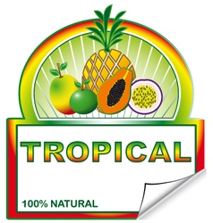 Tropical label for marketplace vector image