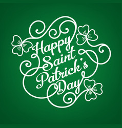 typographic design template for saint patricks day vector image