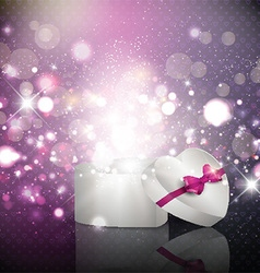 Valentines Day gift background vector