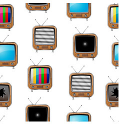 Various retro televisions seamless pattern vector