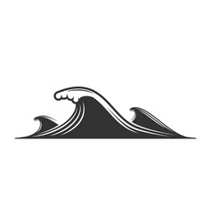 wave silhouette isolated on white background vector image