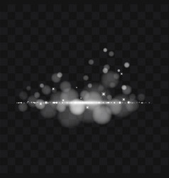 white glitter trail particles background effect vector image